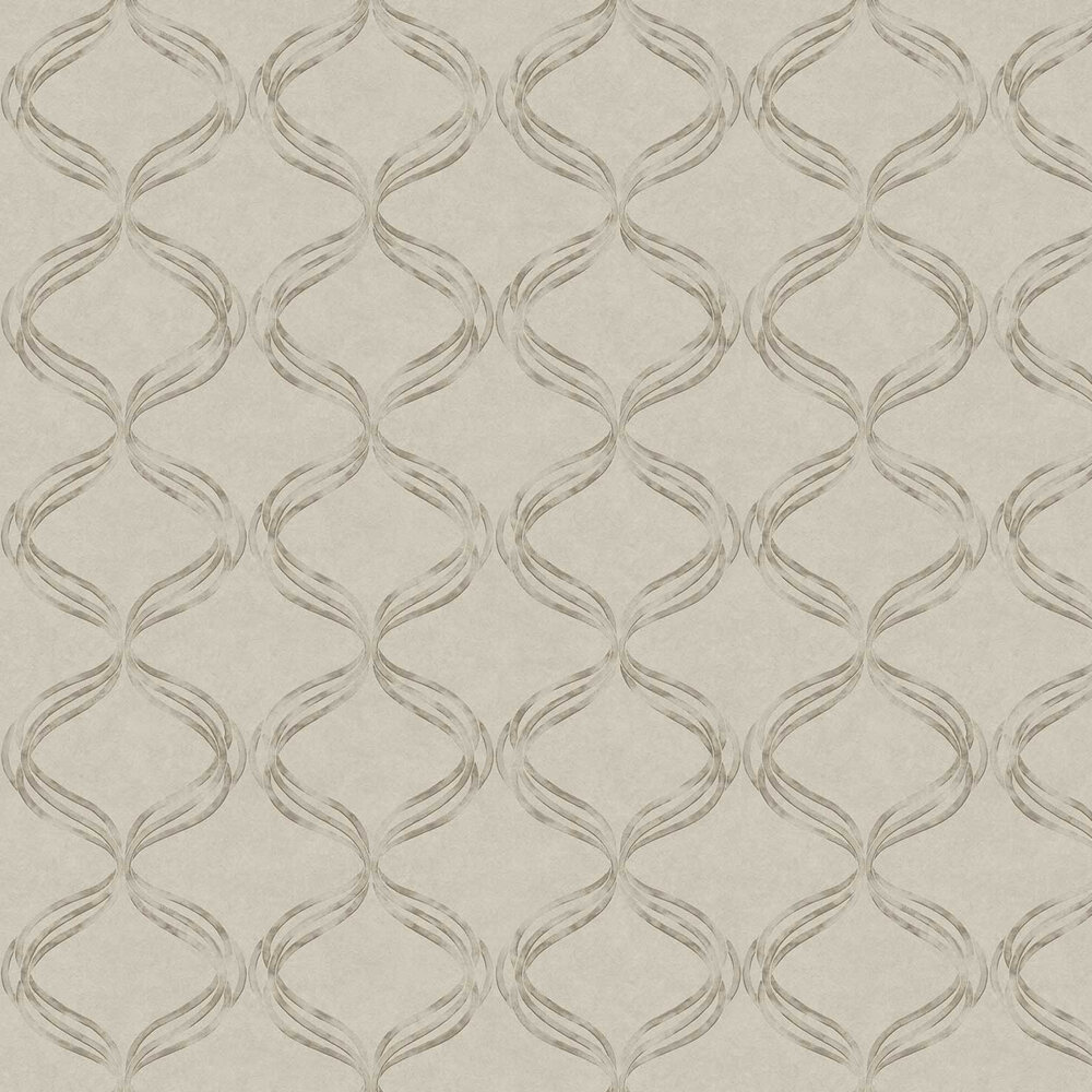 Devore Ribbon Wallpaper - Taupe - by Fardis