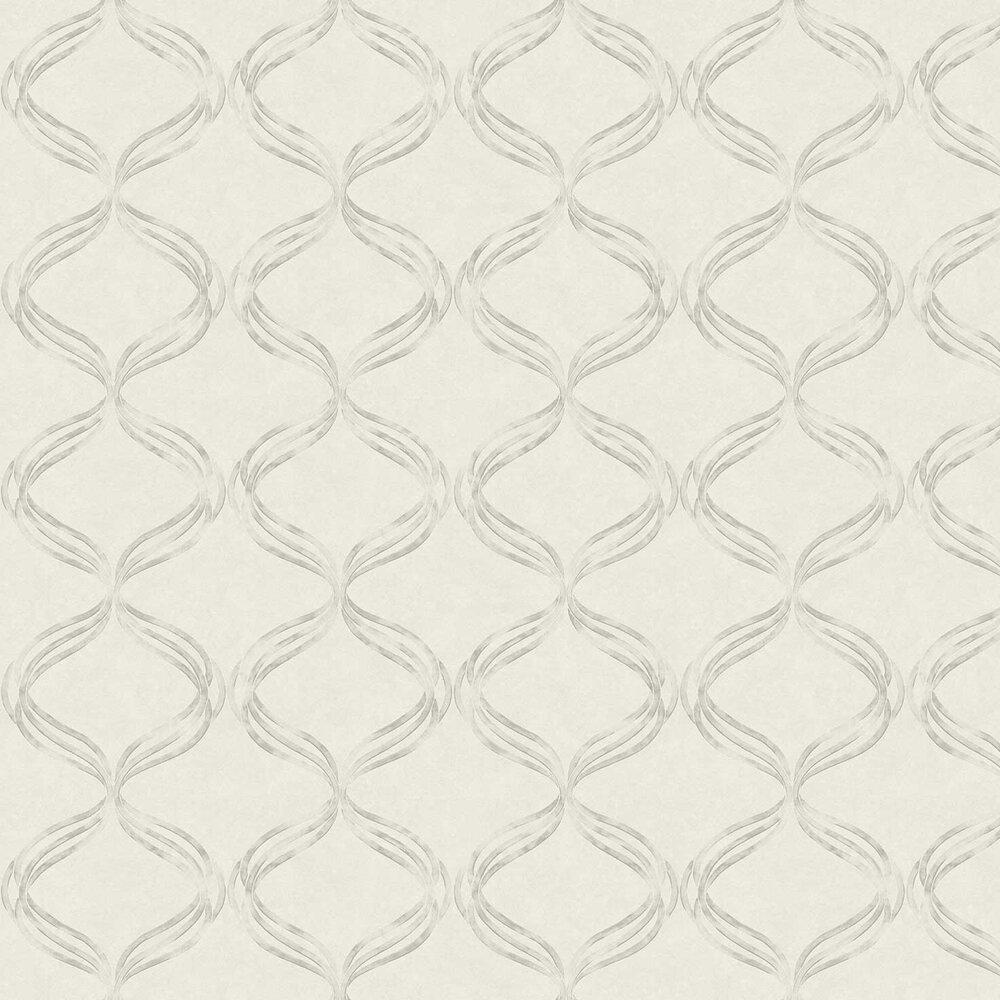 Devore Ribbon Wallpaper - White - by Fardis