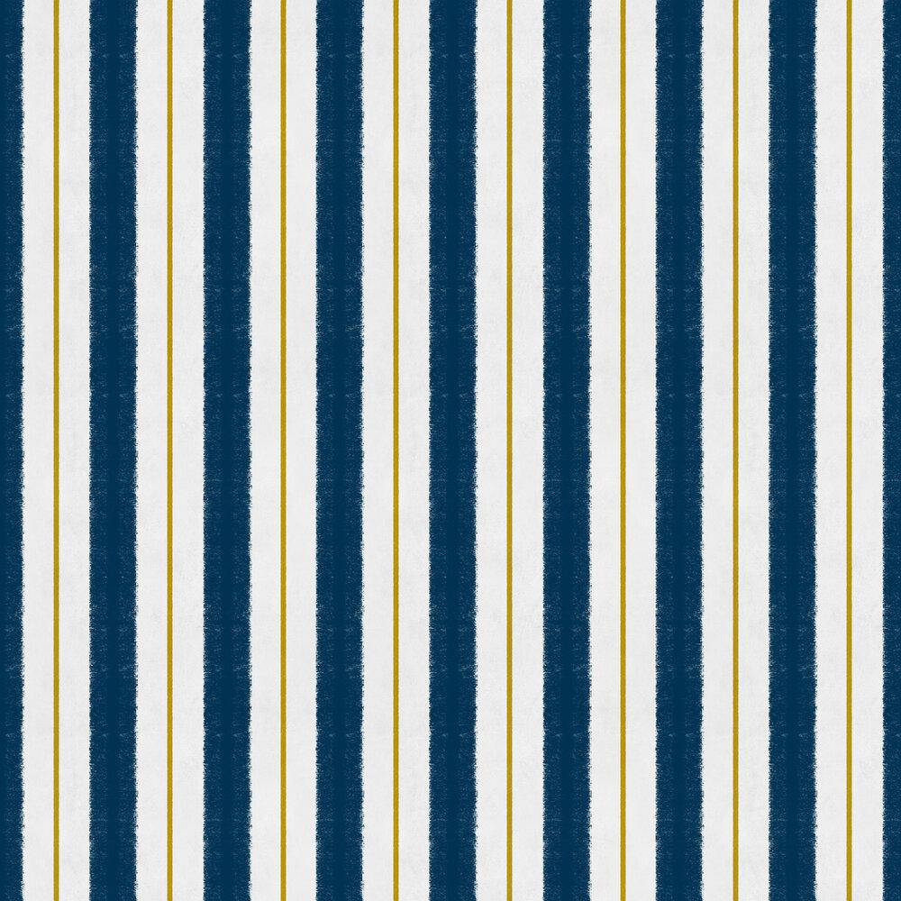 Race Wallpaper - Navy - by Coordonne