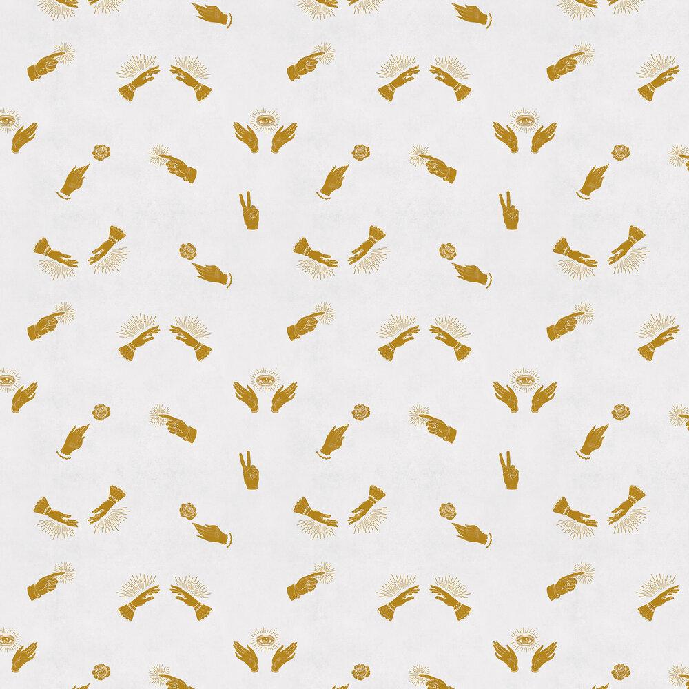 Future Wallpaper - Mustard - by Coordonne