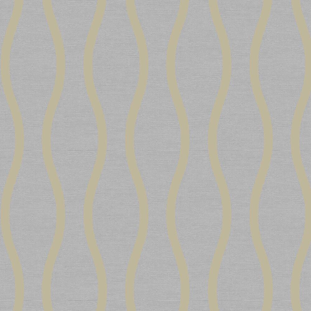 Symmetry Beads Wallpaper - Teal / Gold  - by SketchTwenty 3