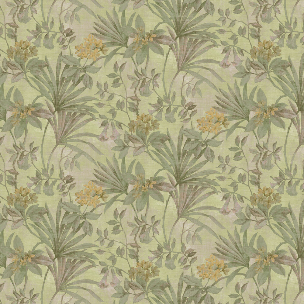Jungla Netto Wallpaper - Acid Green - by Galerie
