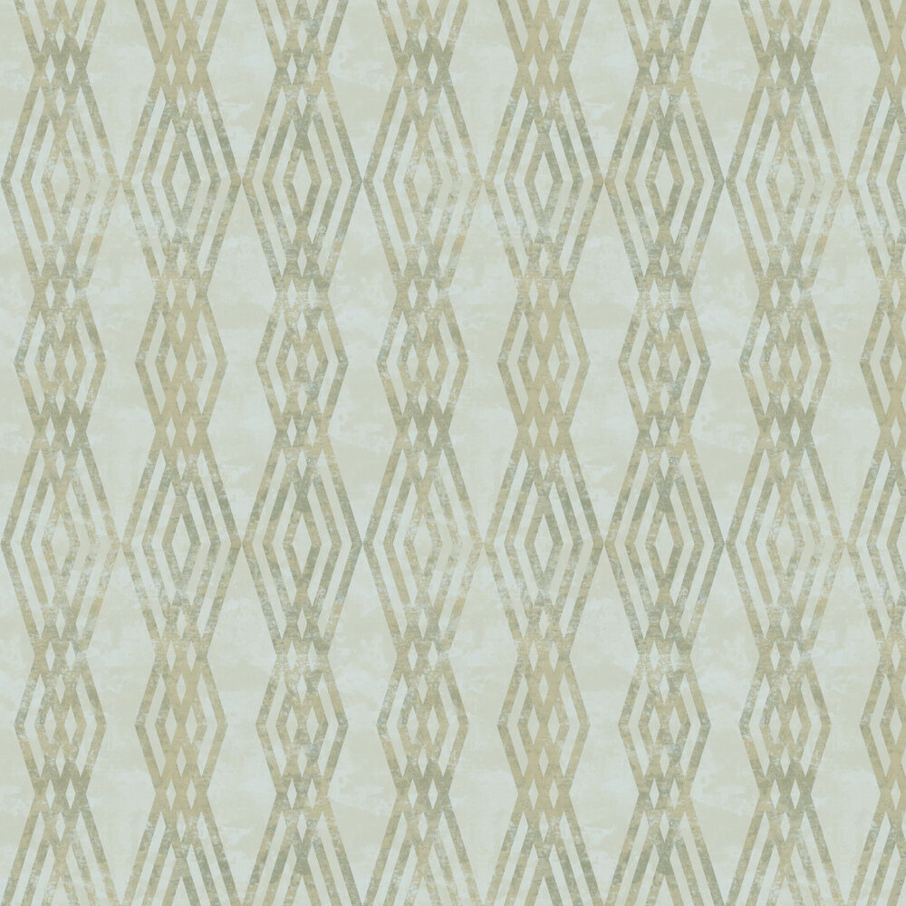 Rombo Netto Wallpaper - Cold Green - by Galerie