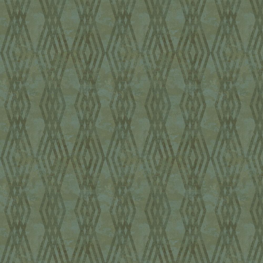 Rombo Netto Wallpaper - Green - by Galerie