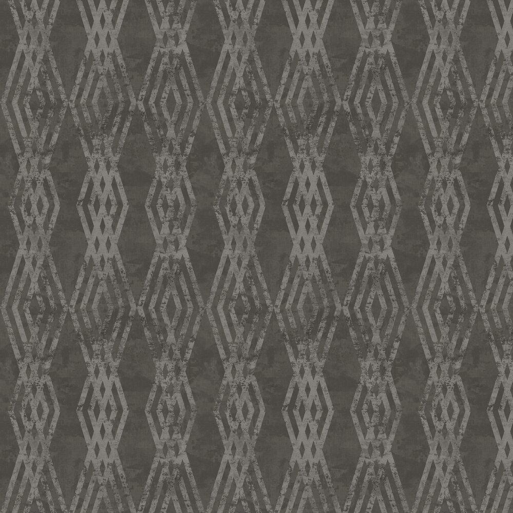 Rombo Netto Wallpaper - Black - by Galerie