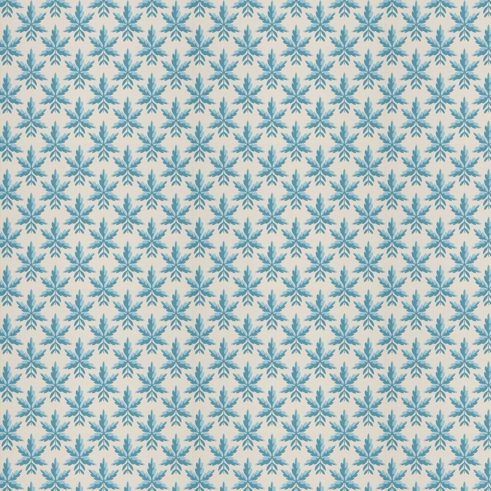 Clutterbuck Wallpaper - Bice - by Little Greene