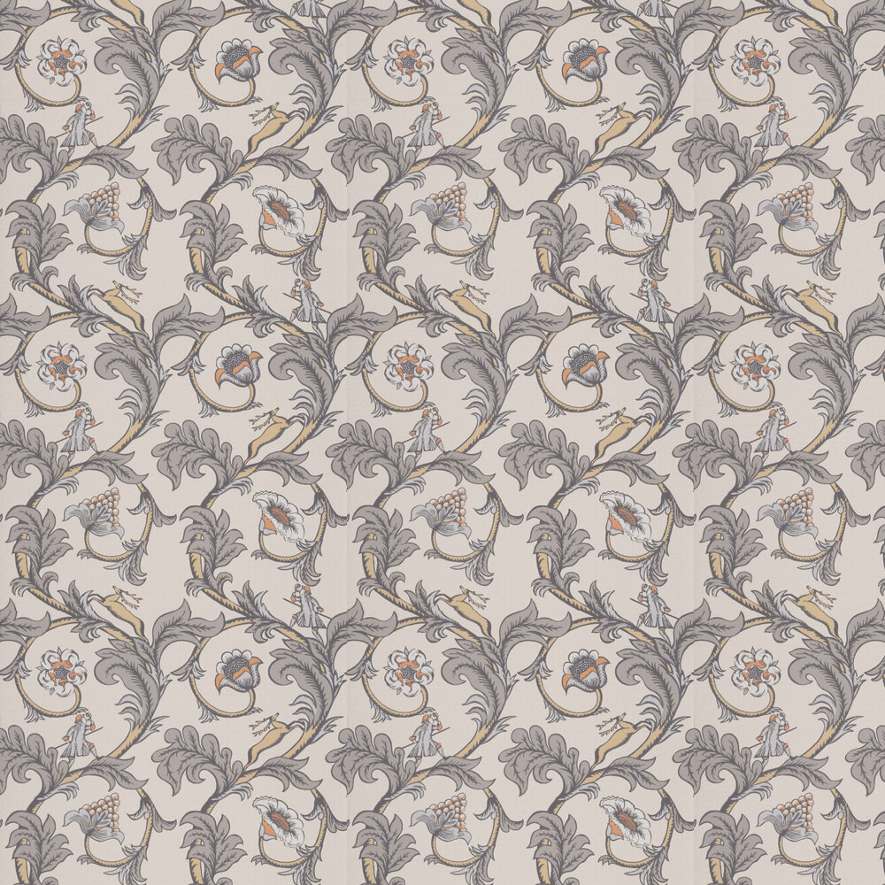 Stag Trail Wallpaper - Sterling - by Little Greene