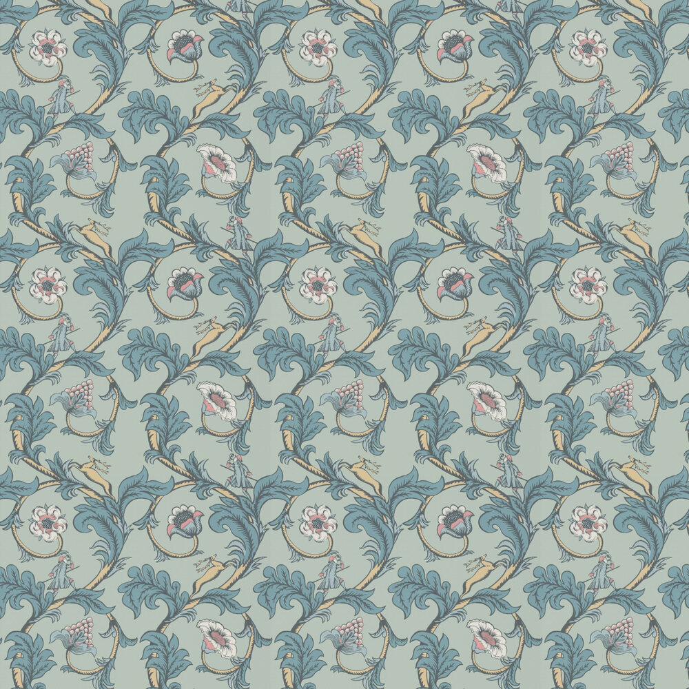 Little Greene Stag Trail Arsenic Wallpaper - Product code: 0245STARSEN