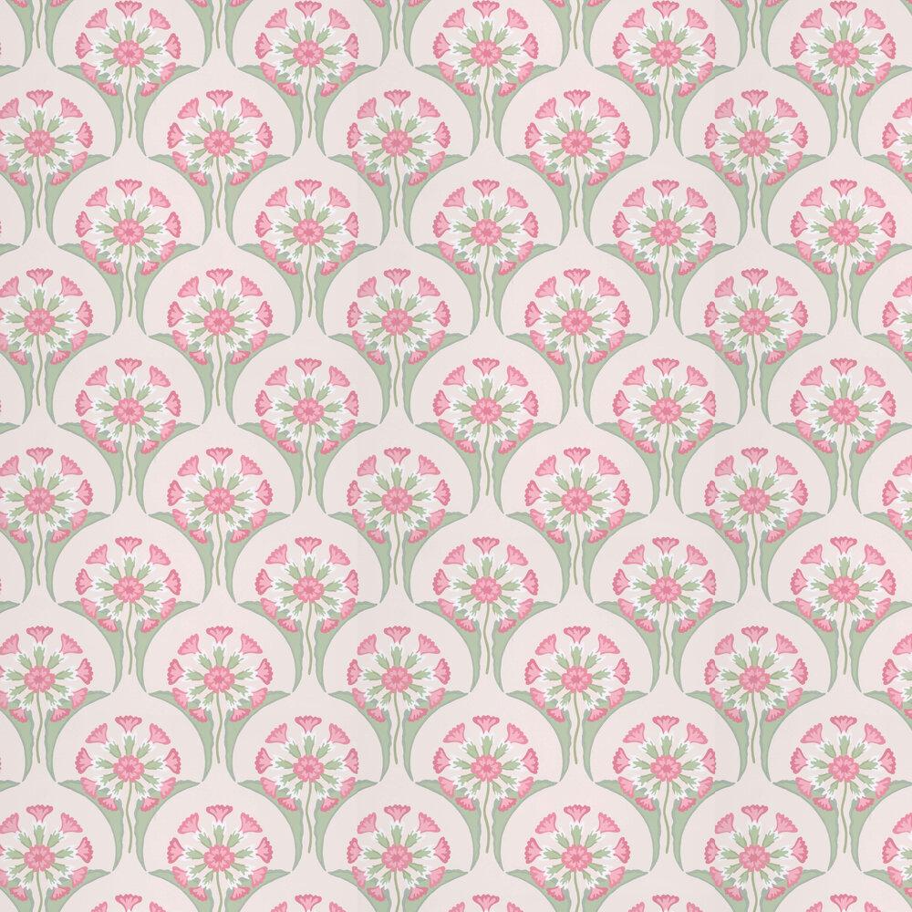 Hencroft Wallpaper - Pink Primula - by Little Greene