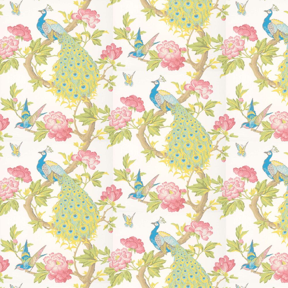Pavona Wallpaper - Blanche - by Little Greene