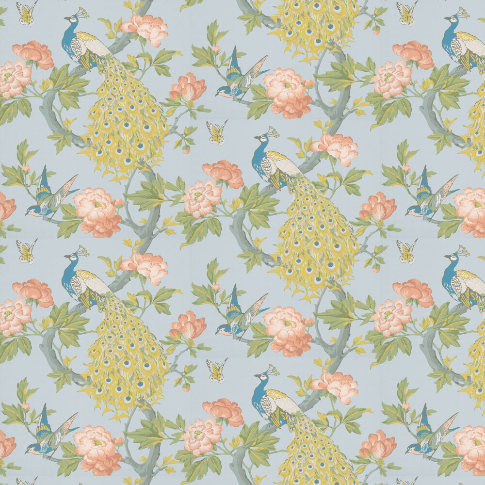 Little Greene Pavona Skye Wallpaper - Product code: 0245PASKYEZ