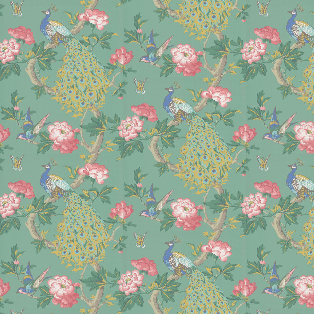 Pavona Wallpaper - Vivienne - by Little Greene