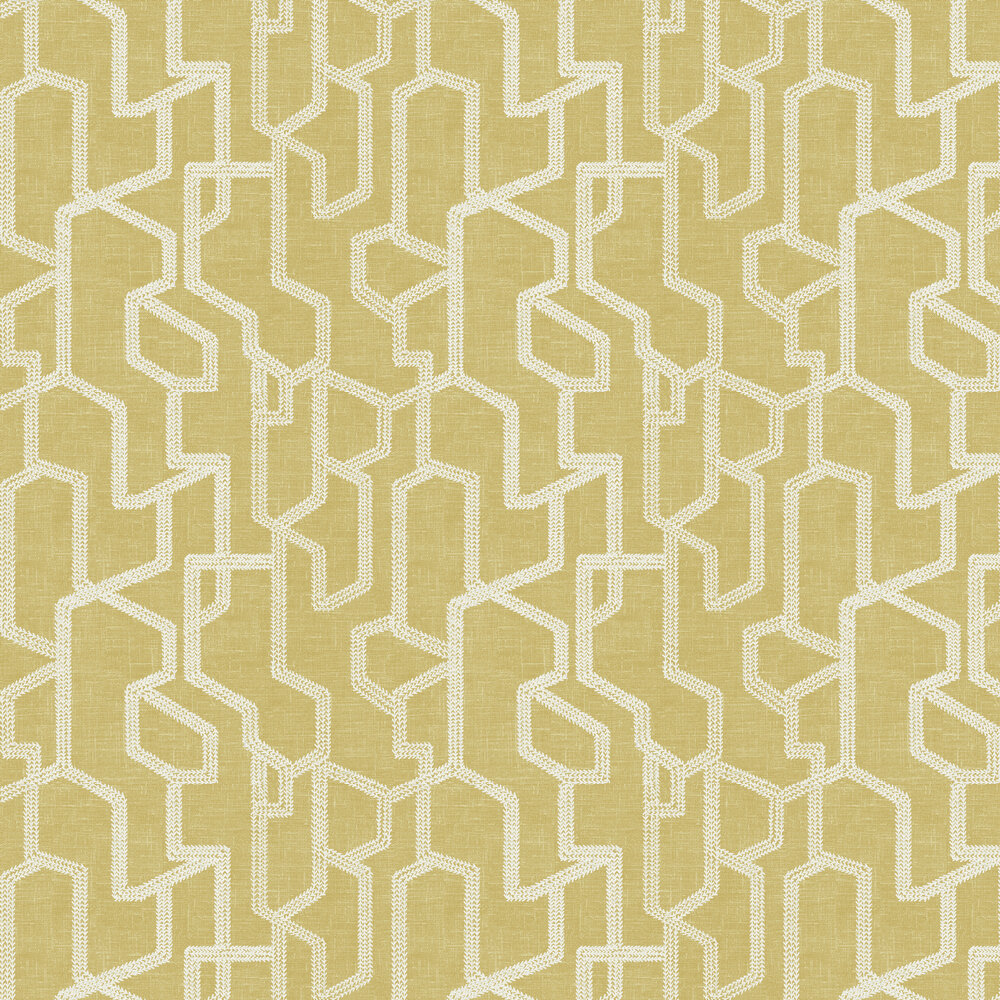 Clarke & Clarke Labyrinth Citron Wallpaper - Product code: W0123/02