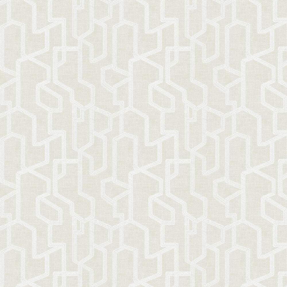 Labyrinth Wallpaper - Linen - by Clarke & Clarke