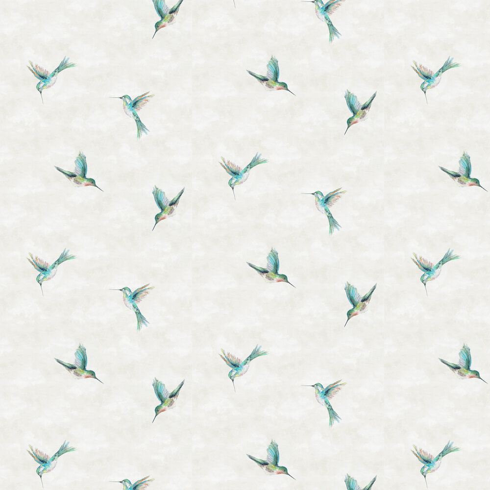 Woodstar Wallpaper - Tropical - by Clarke & Clarke