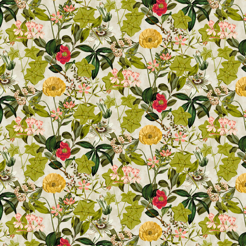 Passiflora Wallpaper - Linen - by Clarke & Clarke