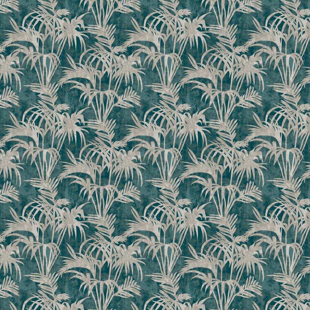 Tropicale Wallpaper - Kingfisher - by Clarke & Clarke