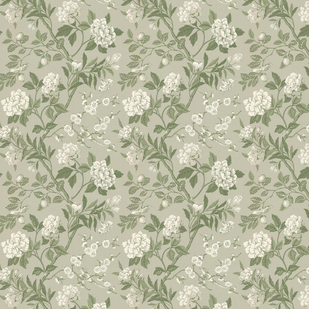 Emperors Garden Wallpaper - Soft Green - by G P & J Baker