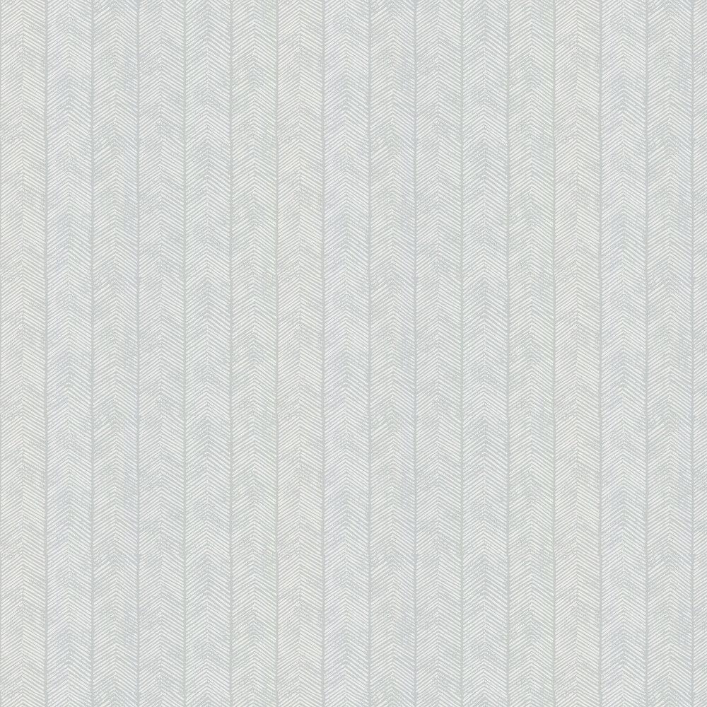 Herringbone Wallpaper - Aqua - by G P & J Baker