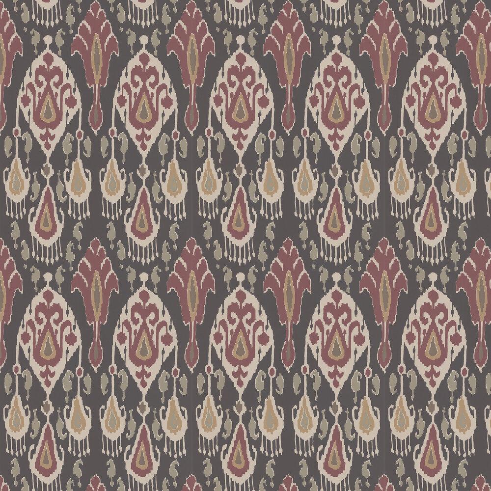 Ikat Bokhara Wallpaper - Espresso - by G P & J Baker