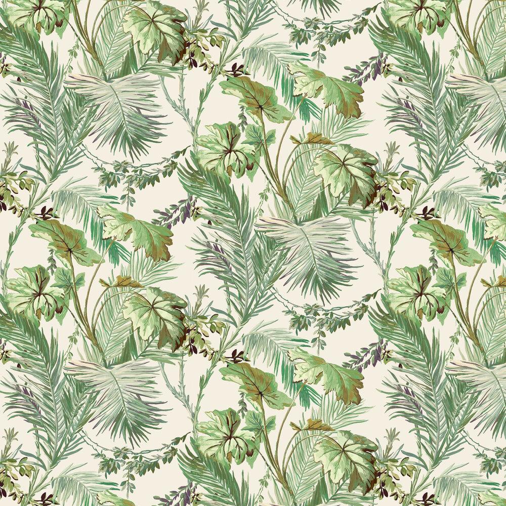 Vegetable Wallpaper - Green - by Coordonne