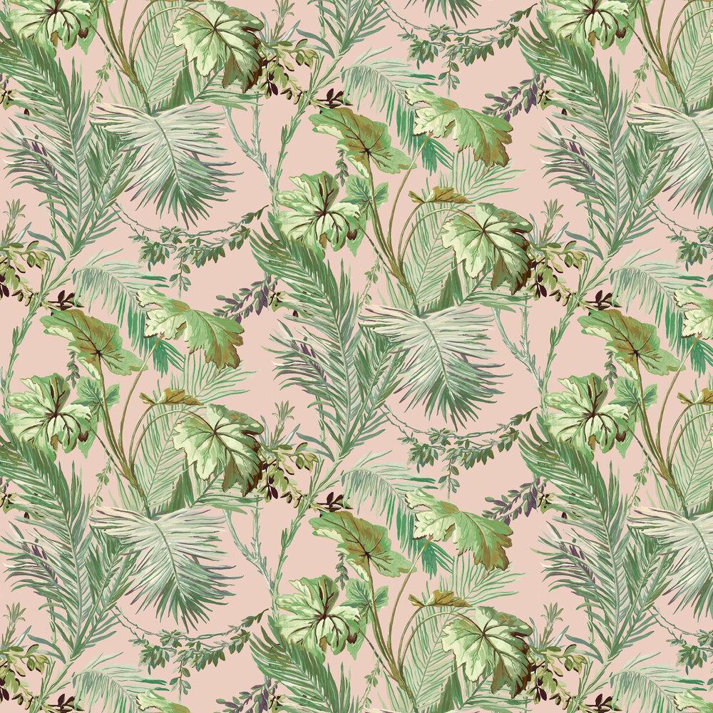 Vegetable Wallpaper - Pink - by Coordonne