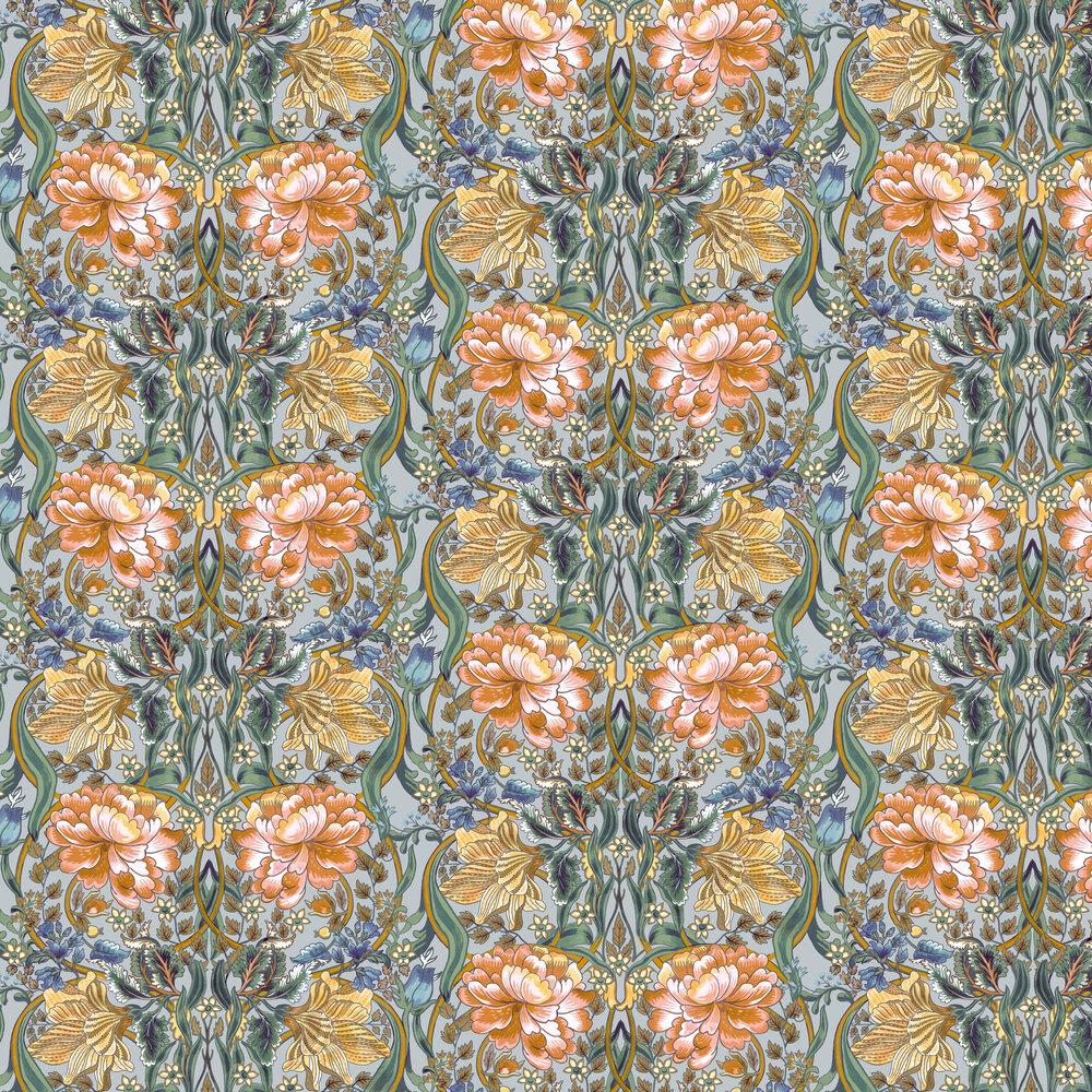 Belle-Epoque Wallpaper - Blue - by Coordonne