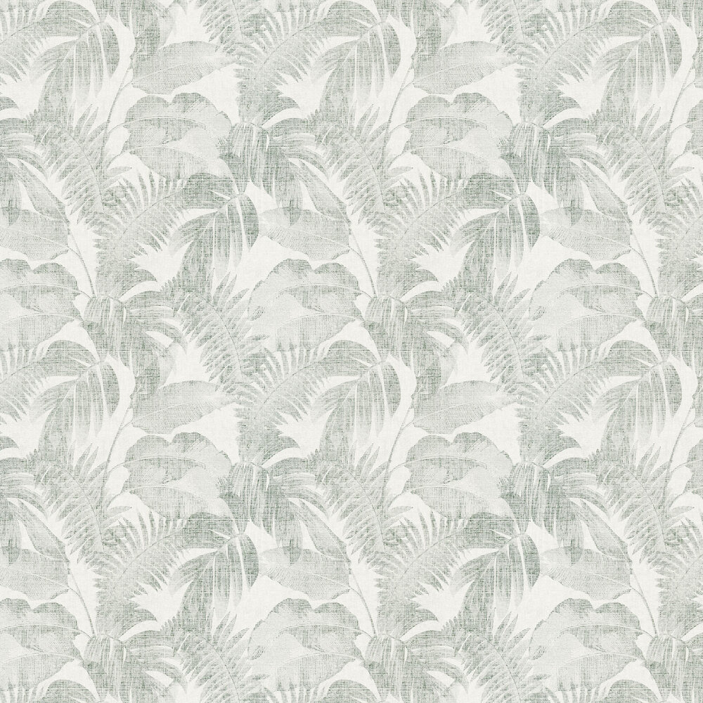 Palm Wallpaper - Ivory / Green - by New Walls