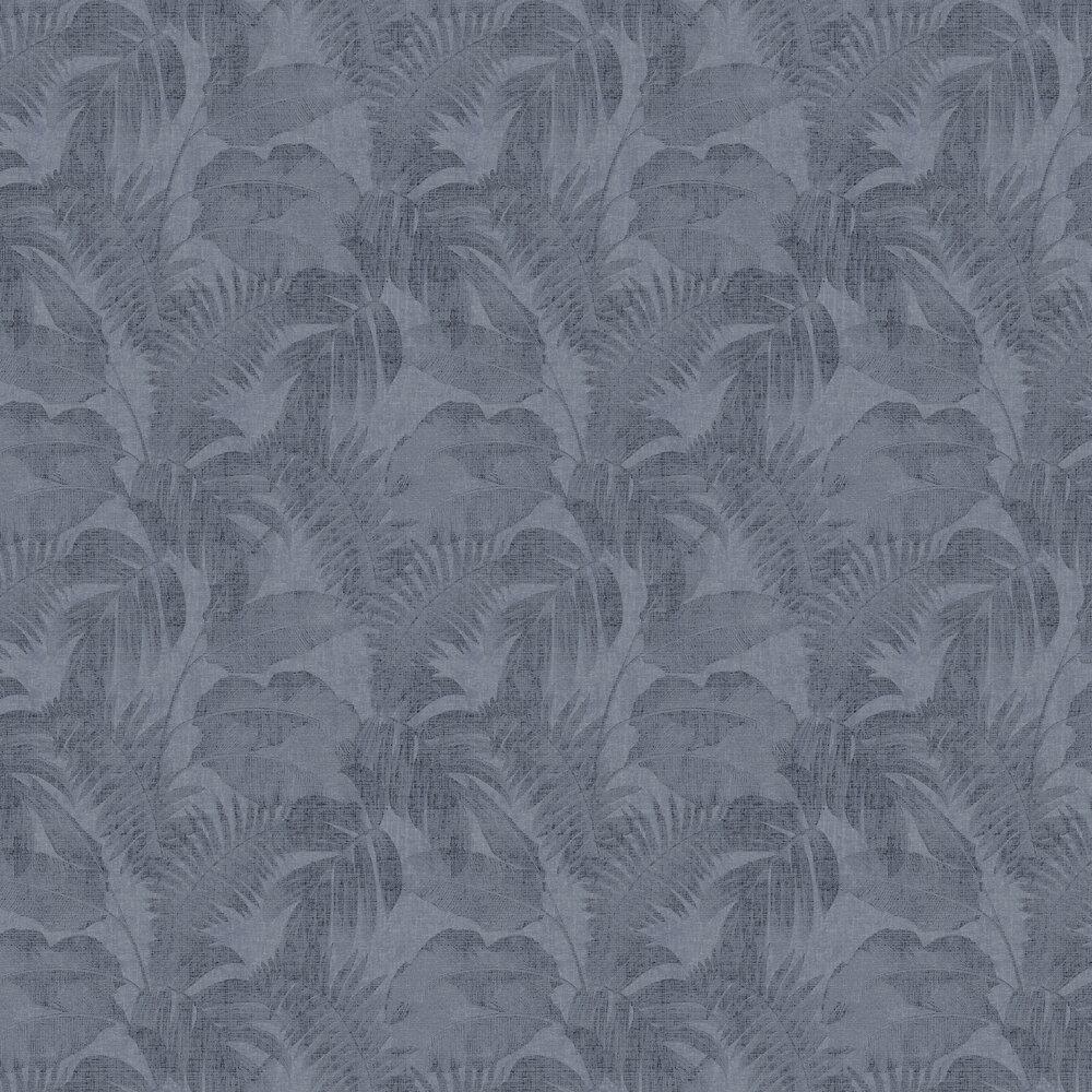 Palm Wallpaper - Denim - by New Walls