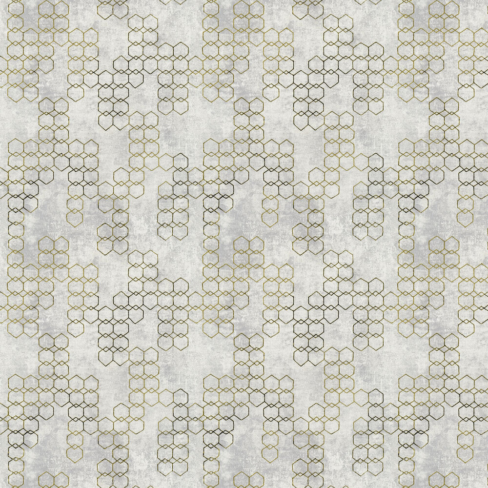 Hex Wallpaper - Grey - by New Walls