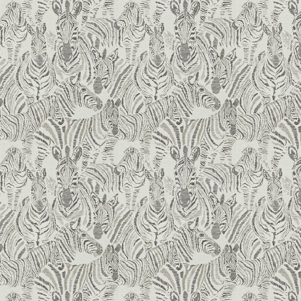 Nirmala Wallpaper - Chalk / Ebony - by Harlequin