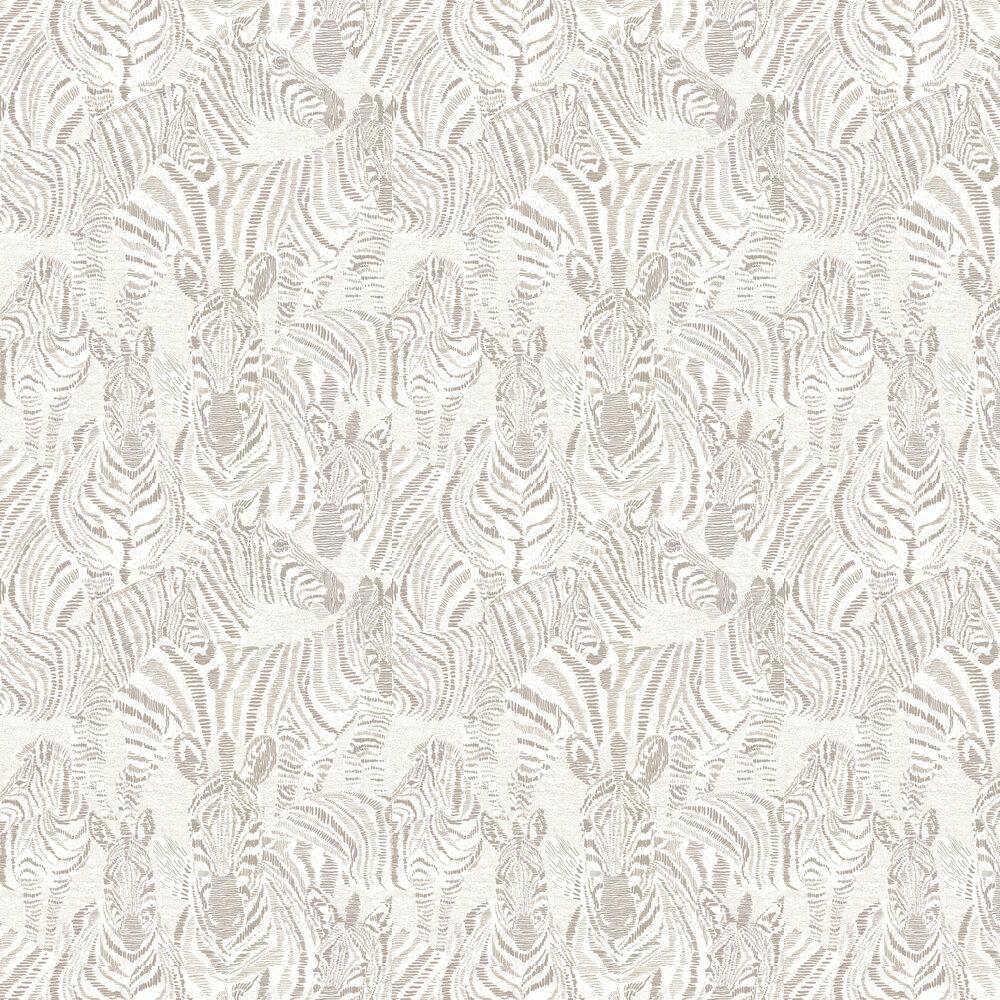 Nirmala Wallpaper - Gilver / Oyster - by Harlequin
