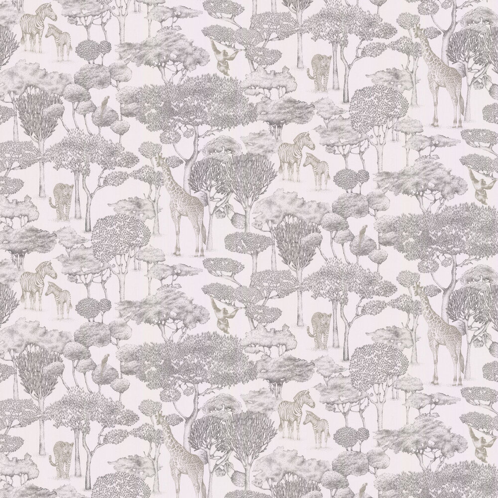 Shamwari Wallpaper - Chalk / Slate - by Harlequin