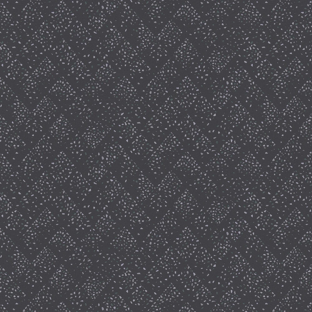 Terrazo Wallpaper - Charcoal / Silver - by New Walls