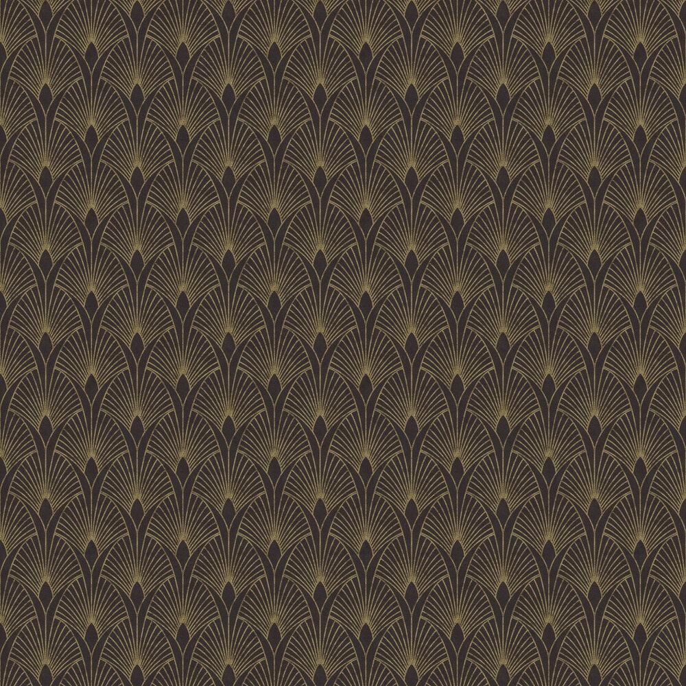 Fan Wallpaper - Noir / Gold - by New Walls