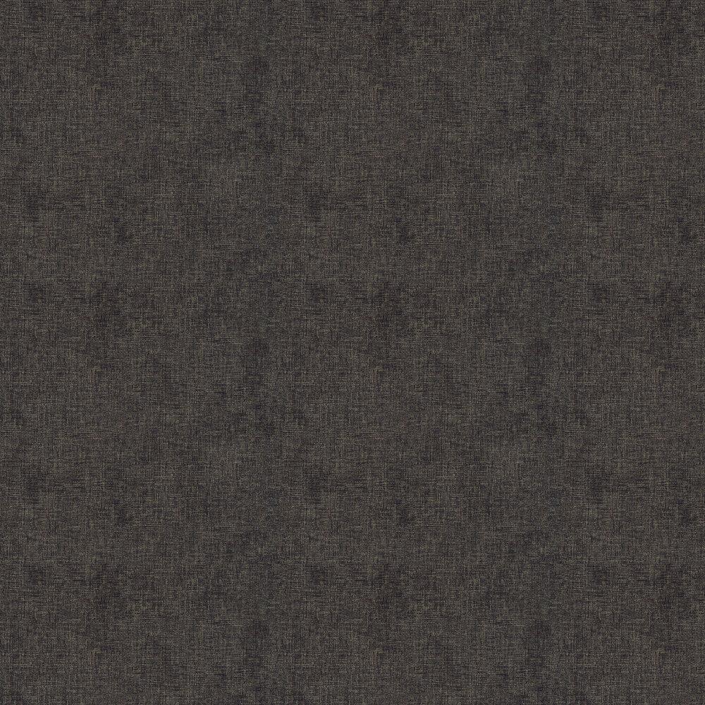Woven Plain Wallpaper - Noir / Gold - by New Walls