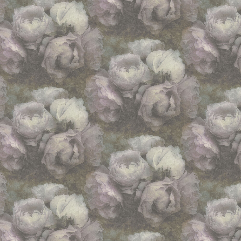 Roses Wallpaper - Faded Pink - by New Walls