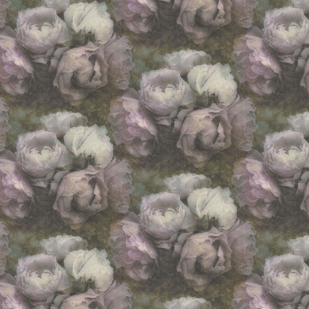 Roses Wallpaper - Dusty Pink - by New Walls