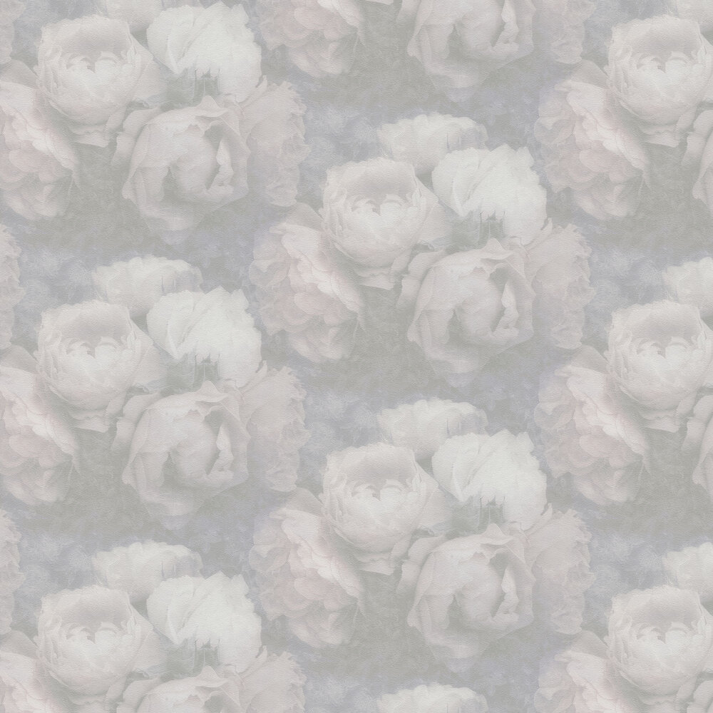 Roses Wallpaper - Greyscale Pink - by New Walls