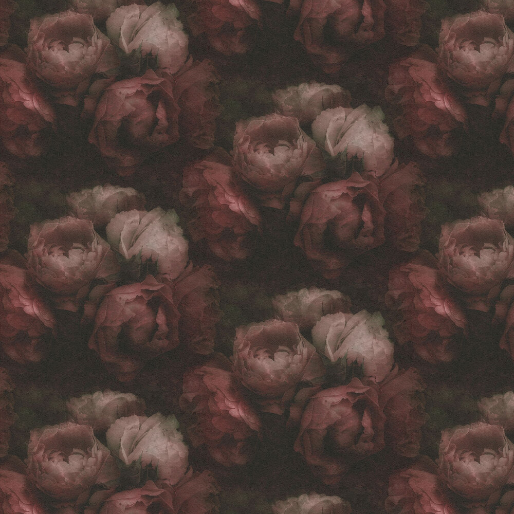 Roses Wallpaper - Deep Pink  - by New Walls