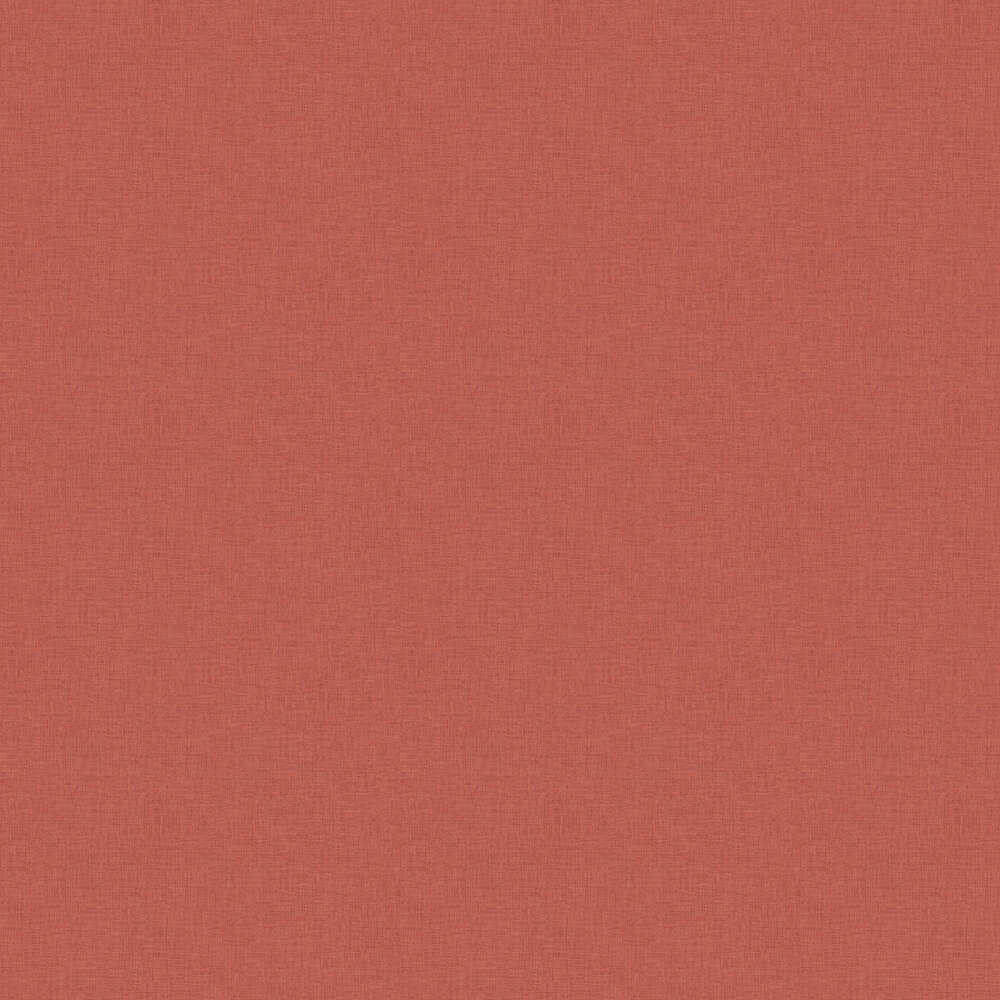 Woven Plain Wallpaper - Red - by New Walls