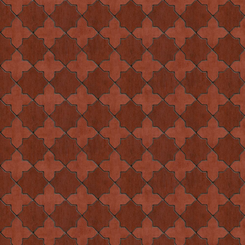 Mosaic Wallpaper - Red - by New Walls