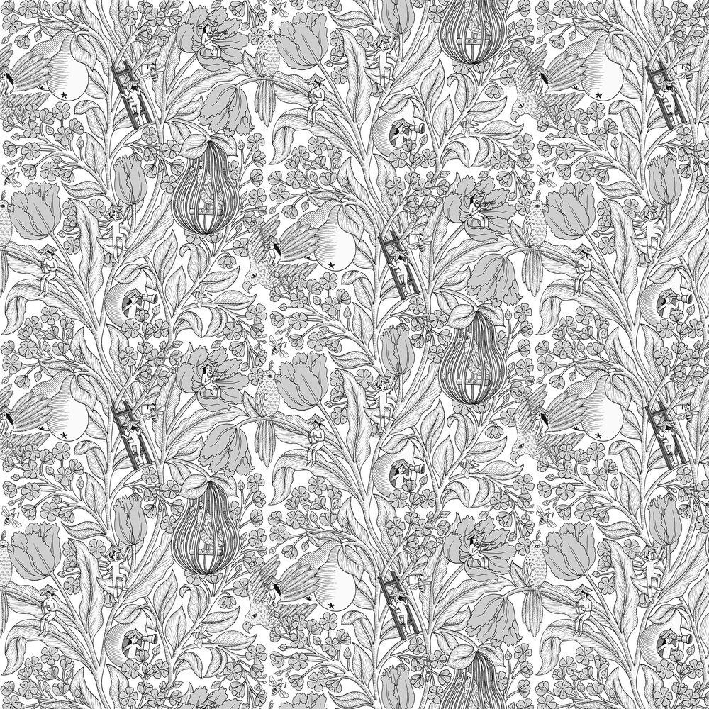 Neo-Belle-Epoque Wallpaper - Black / White - by Coordonne