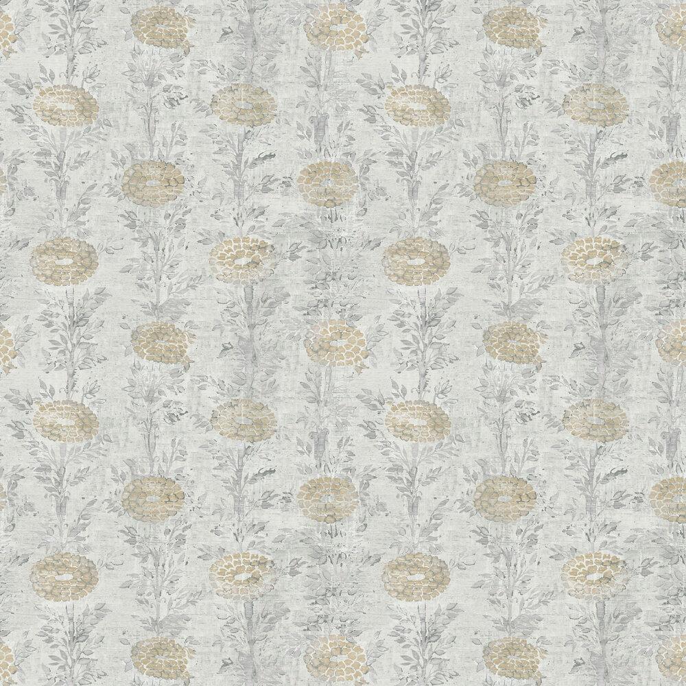 Kanzashi Wallpaper - Silver - by Coordonne