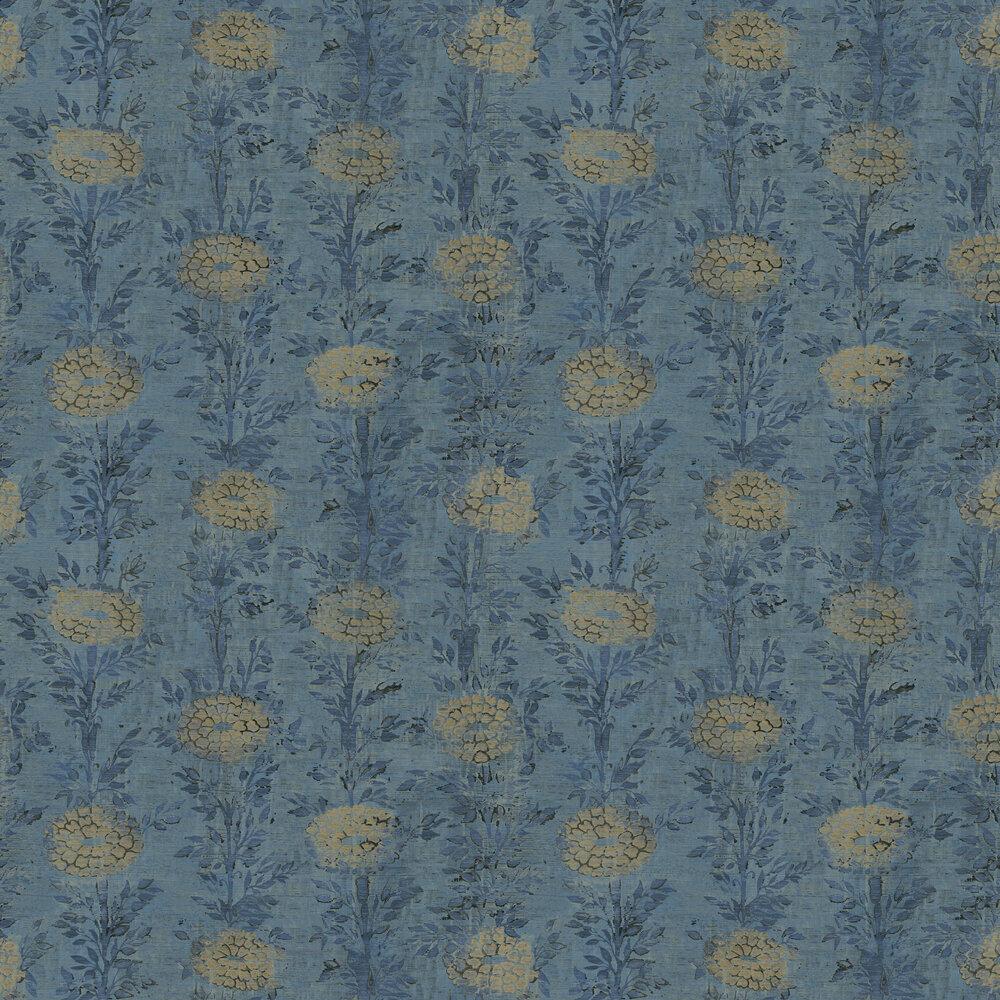 Kanzashi Wallpaper - Blue - by Coordonne