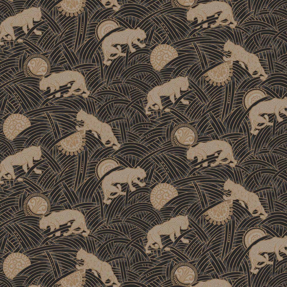 Toka Wallpaper - Black - by Coordonne