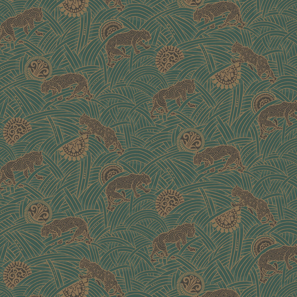 Toka Wallpaper - Green - by Coordonne