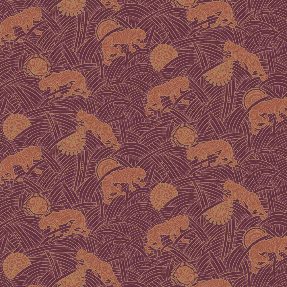 Toka Wallpaper - Prune - by Coordonne