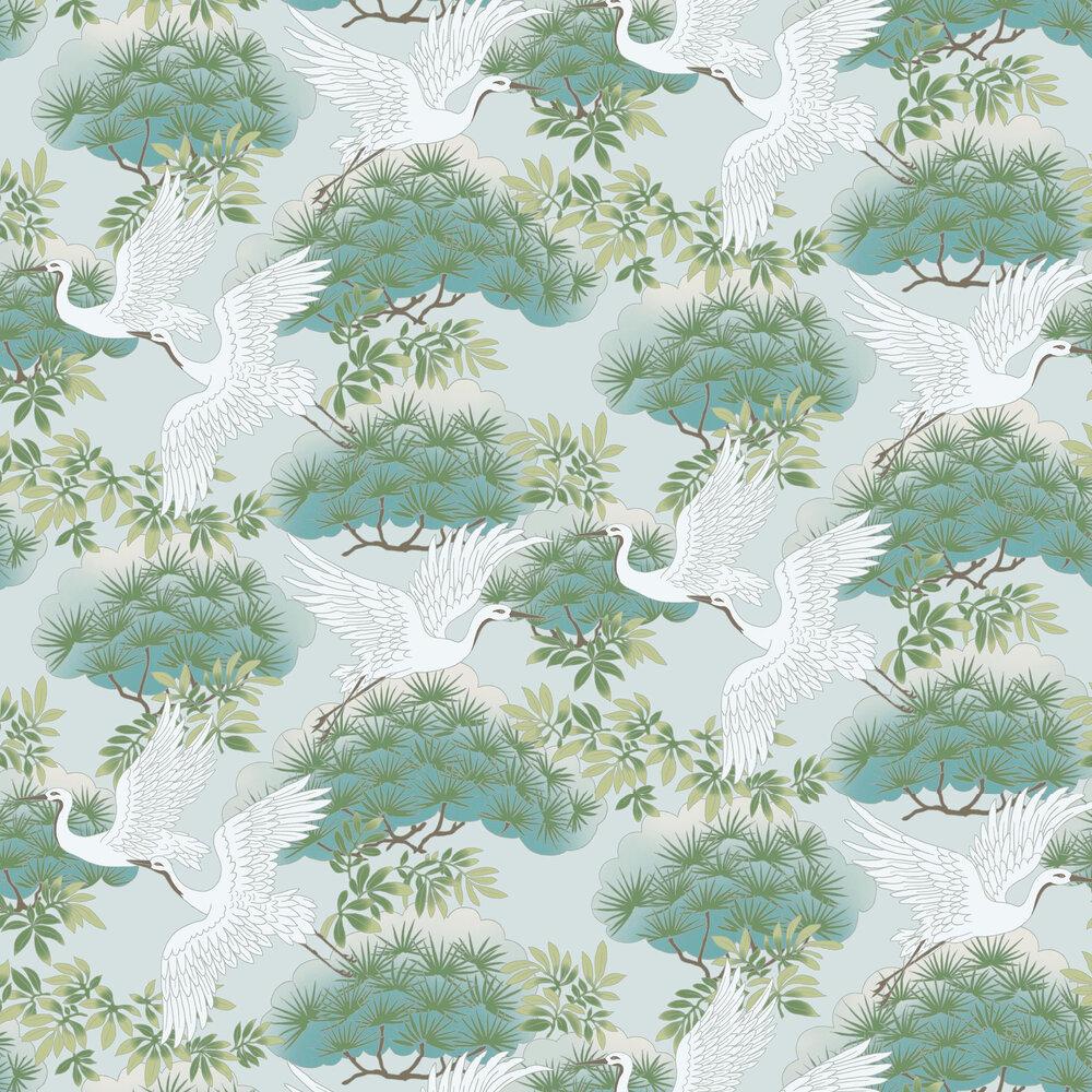 Kuren Wallpaper - Aqua - by Coordonne