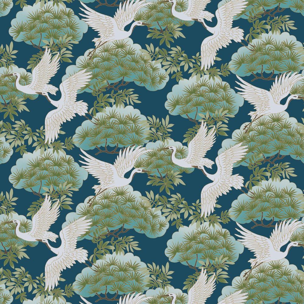 Kuren Wallpaper - Blue - by Coordonne